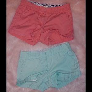J crew factory  broken in chino shorts 2 pairs